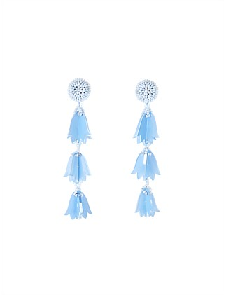 BEADED BELLFLOWER DROP EARRING