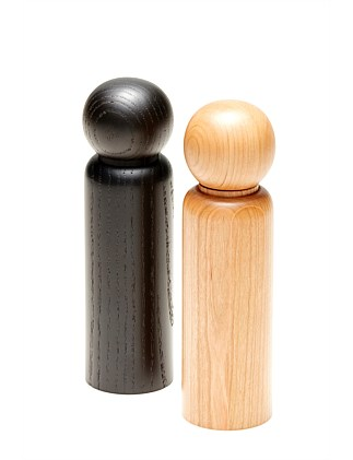 GRIND SALT/PEPPER MILL 5.5X20CM - ASSORTED 2 COLORS