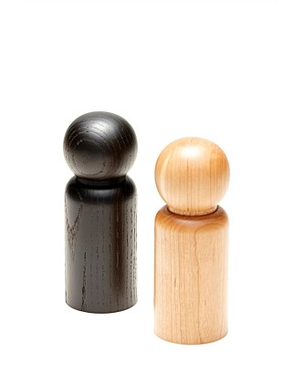 GRIND SALT/PEPPER MILL 5.5X15CM - ASSORTED 2 COLORS