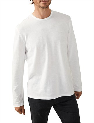 Long Sleeve Solid Pique T-Shirt