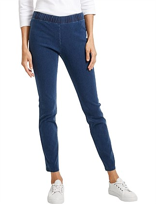 Felicity Denim Pull On Pant