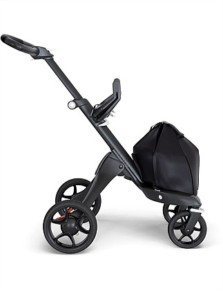 Stokke Xplory 6 Black Chassis with Black leatherette handle