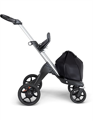 Stokke Xplory 6 Silver Chassis with Black leatherette handle