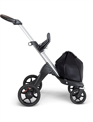 Stokke Xplory 6 Silver Chassis with Brown leatherette handle