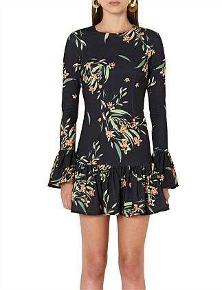 6f2122121d6 BLACK JUNGLE GATHER SHIFT DRESS