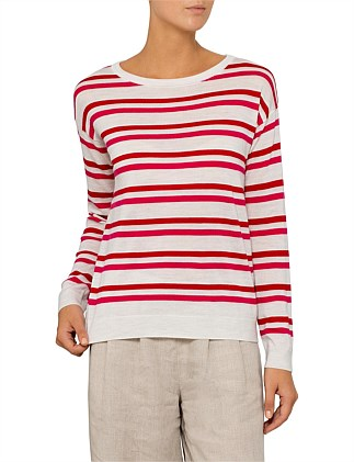 Bright Stripe Pullover