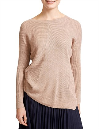 a0380d8f49 Allora Crew Neck Asym Top
