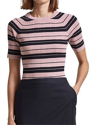 68225aa2cfb30 Aria Stripe Rib Knit Top Special Offer
