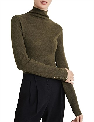 Fine Roll Neck Knit