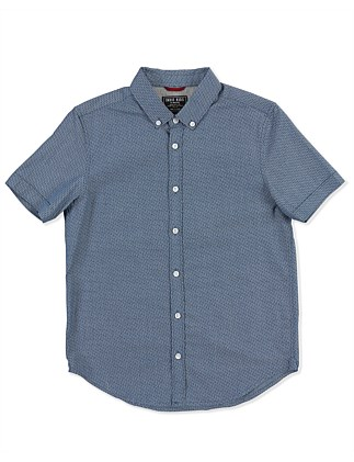 Geo Blue S/S Shirt (Boys 3-7 Years)