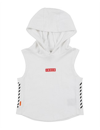 Indie Side Stripe Hooded Muscle (Boys 0-2 Years)