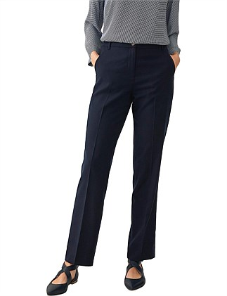 Wool Blend Flannel Tailored Trouser