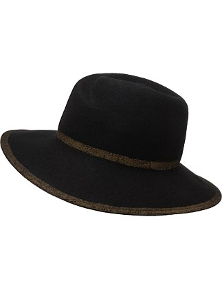 PAINTED EDGE FELT FEDORA