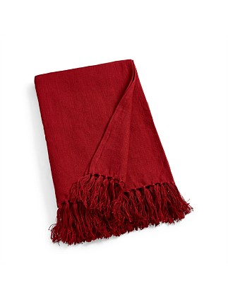 Norwich Road Everly Red Throw