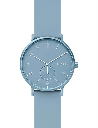 Aaren Kulør Blue Analogue Watch