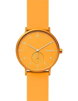 Aaren Kulør Yellow Analogue Watch