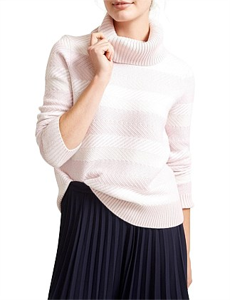 Donatia Stripe Roll Neck