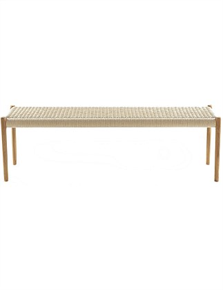 Moller Bench 63Lacquered Oak Nat/Paper Cord
