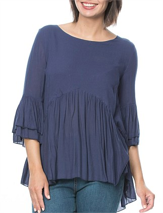 Gather Detail Tunic Top