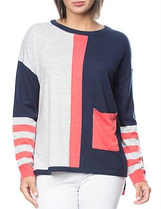 9cbe62030a9 Colour Blocked Stripe Jumper Special Offer