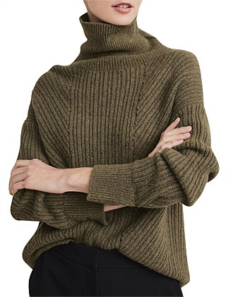 Hi Lo Pointelle Knit
