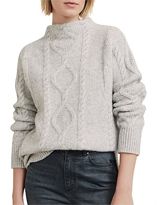 Cable Funnel Knit