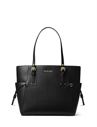 Voyager Crossgrain Leather Tote DJ On Sale. ACORN  ADMIRAL  BLACK  RACING  GREEN. Michael Kors 4ddaa469233bf