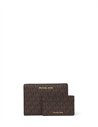 c530f9a9116d Jet Set Medium Logo Slim Wallet On Sale. Michael Kors