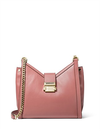 Whitney Small Leather Chain Shoulder Bag