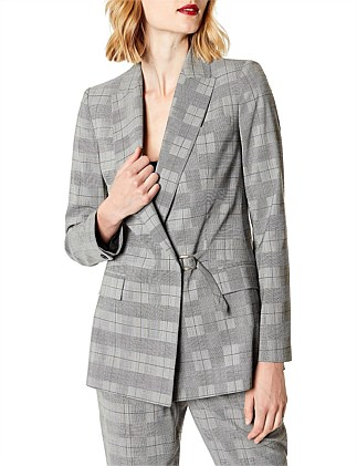 RELAXED CHECKED BLAZER