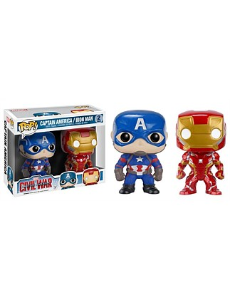 Captain America 3 - Iron Man & CapAmerica Pop! 2Pk