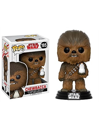 Star Wars - Chewbacca w/Porg Ep8 Pop!
