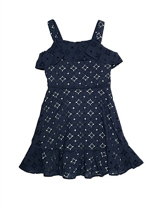 BROADERIE LACE DRESS