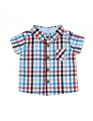 S/S Shirt - Multi  Check(3M-2Y)