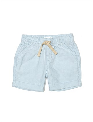 Cotton Oxford Pull On Short(3M-2Y)