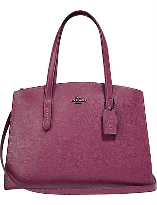 0c34ba7ffb49 CHARLIE CARRYALL WITH METALLIC INTERIOR DJ On Sale Special Offer On Sale.  Coach