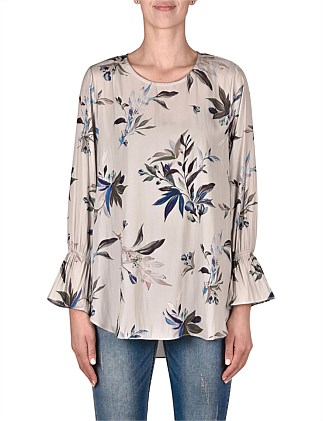 Sketchbook Floral Printed Blouse