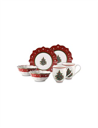 Toy's Delight Breakfast for 2 red, set of 6, 36x25x14cm