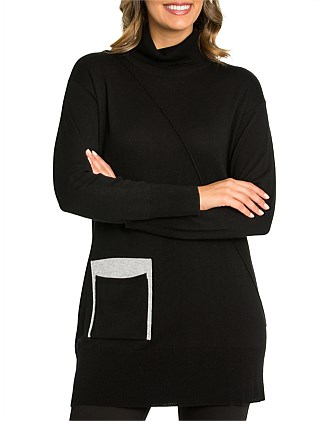 Long Sleeve Spliced Tunic