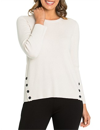 Long Sleeve Button Up Sweater