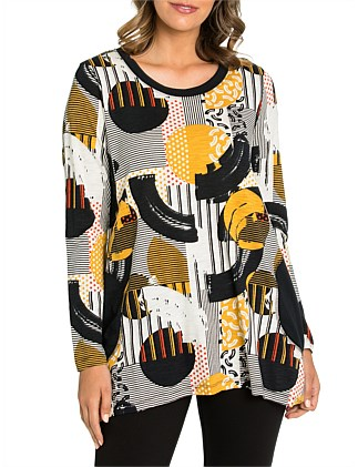 3/4 Abstract Split Tunic