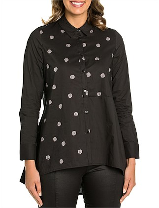 Long Sleeve Distress Spot Shirt