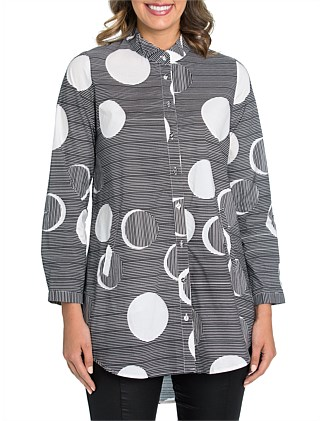 Long Sleeve Full Moon Longline Shirt