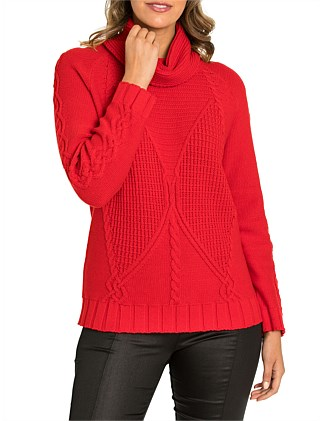 Long Sleeve Cosy Cable Sweater