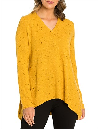 Long Sleeve Relaxed Fleck Knit