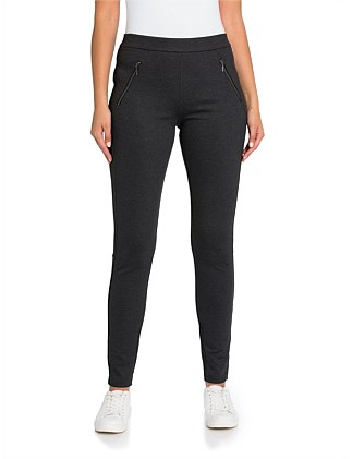 Full Length Splice Zipper Legging