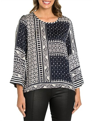 Paisley Patch Top