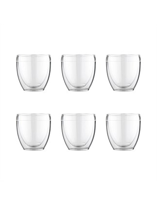 Pavina Outdoor Double Wall Glasses 250ml Set Of 6