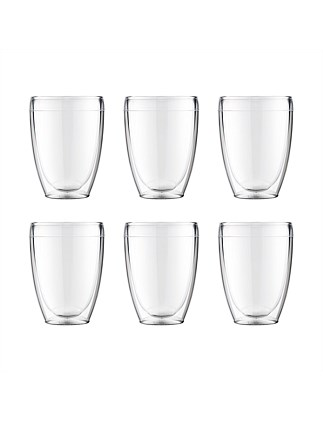 Pavina Outdoor Double Wall Glasses 350ml Set Of 6