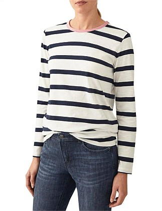 Striped Organic Cotton Slub T-Shirt